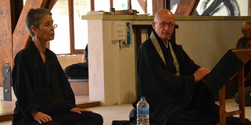 teachings at zen temple la Gendronnière