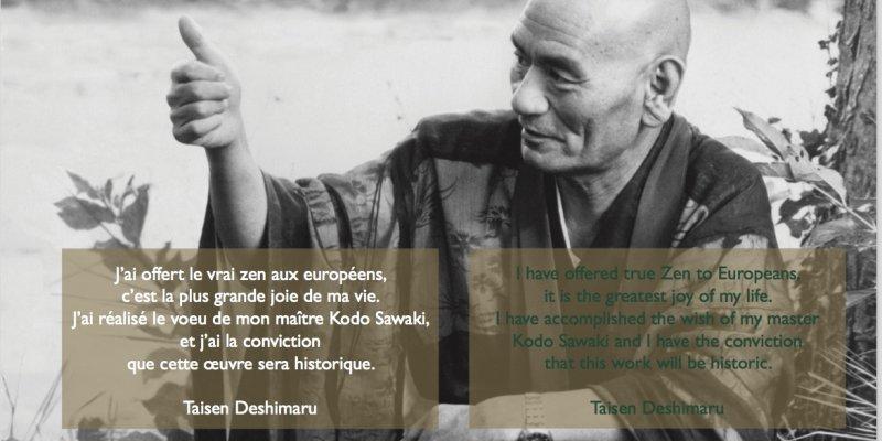 Master Taisen Deshimaru